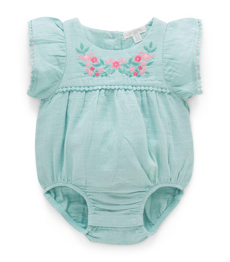 Purebaby Floral Bodysuit (0-12 Months)
