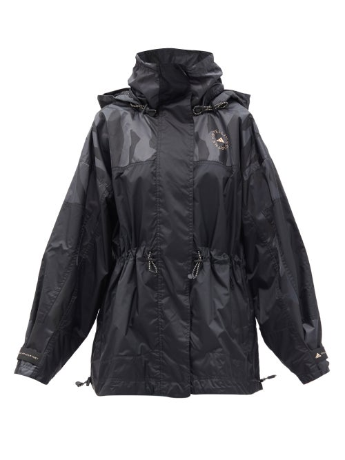 Adidas By Stella Mccartney - Truepace Recycled-ripstop Windbreaker Jacket - Womens - Black