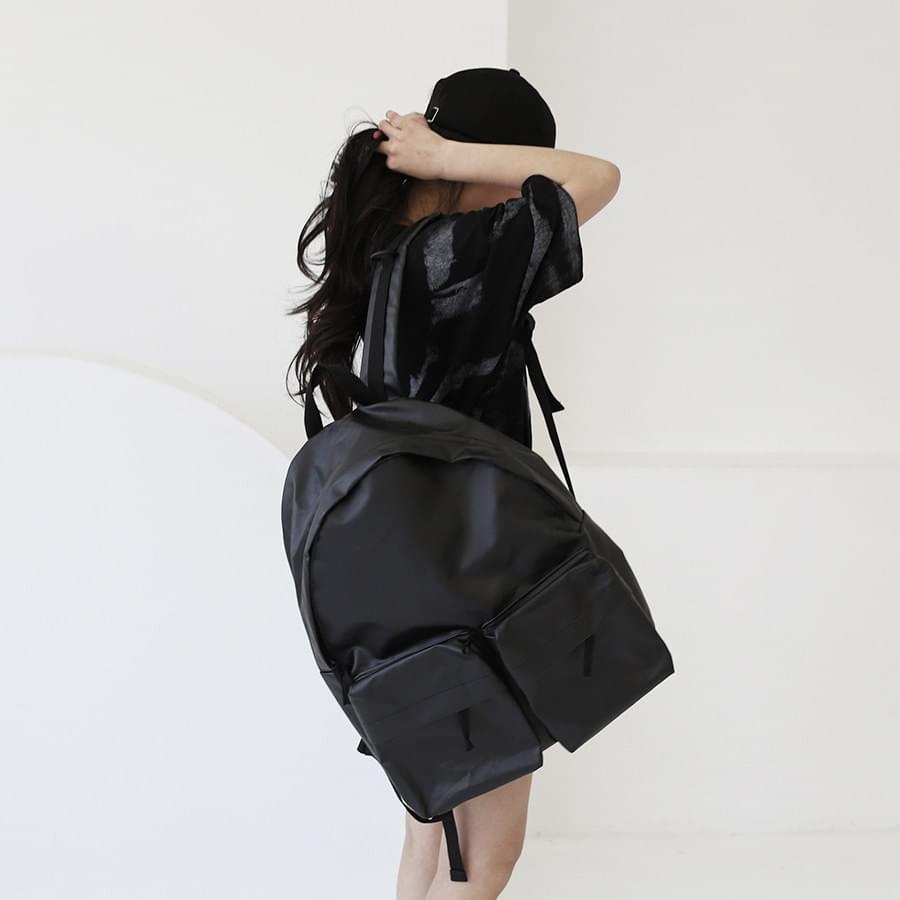 韓國空運 - Dual pocket belt backpack 背包