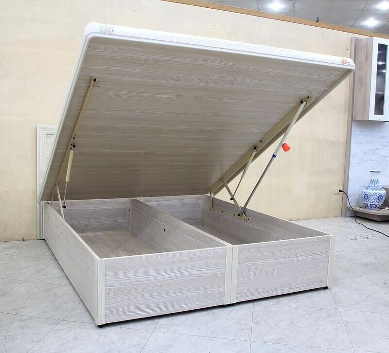 歐風別館五尺雪松色加高掀床含安全裝置基隆至台中免運費