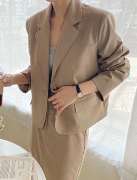 韓國空運 - Latte One Button Single Jacket 夾克