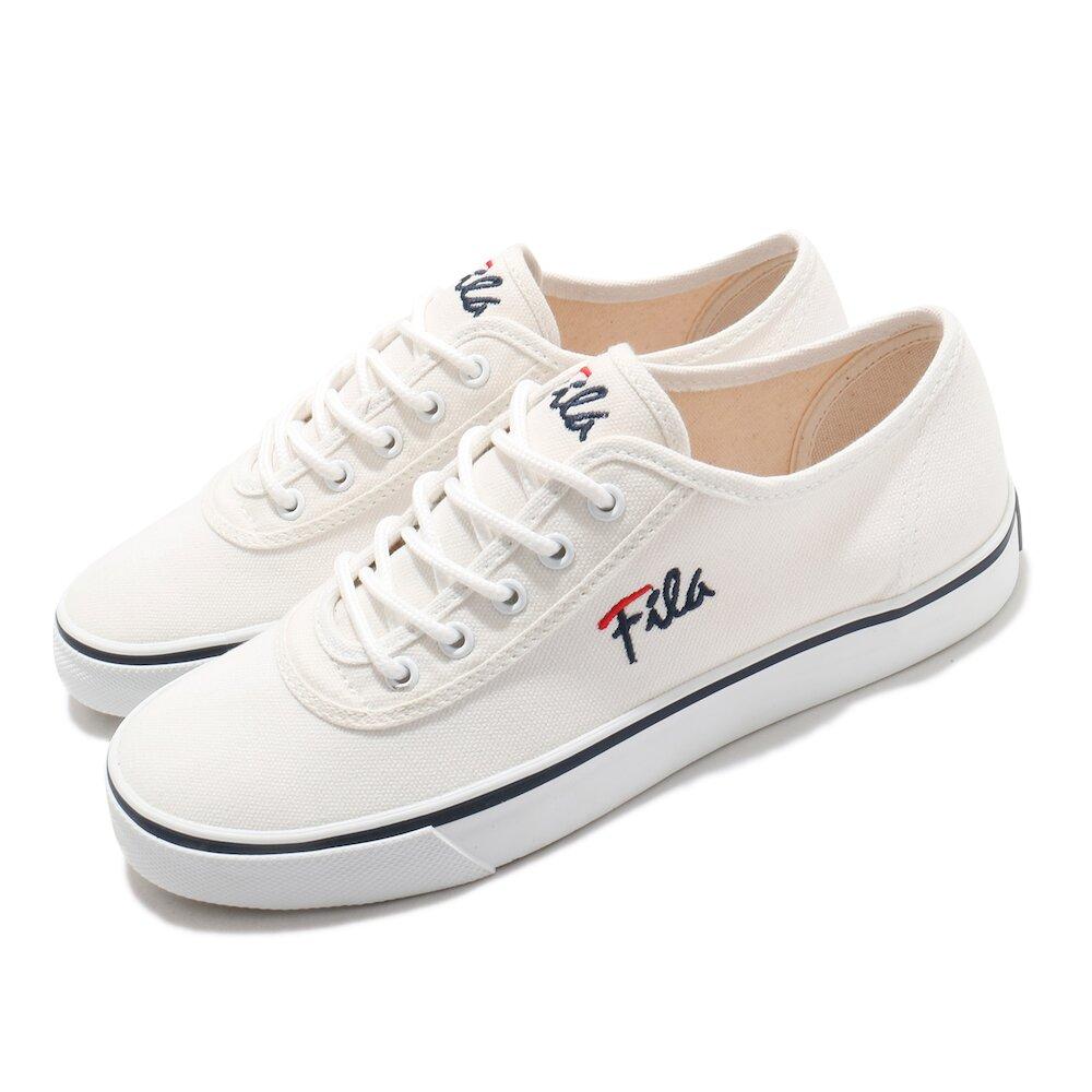 FILA 休閒鞋 C917U 帆布鞋 女鞋 斐樂 基本款 穿搭推薦 百搭 白 黑 [5C917U133]