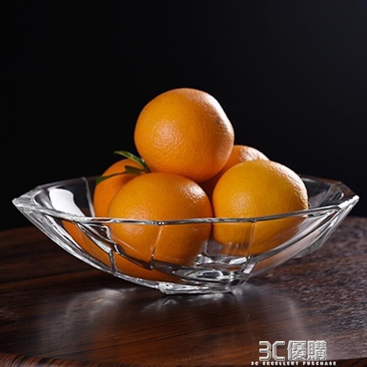 詮釋愛 大號無鉛玻璃果盤透明水晶玻璃果盆創意客廳家用水果盤