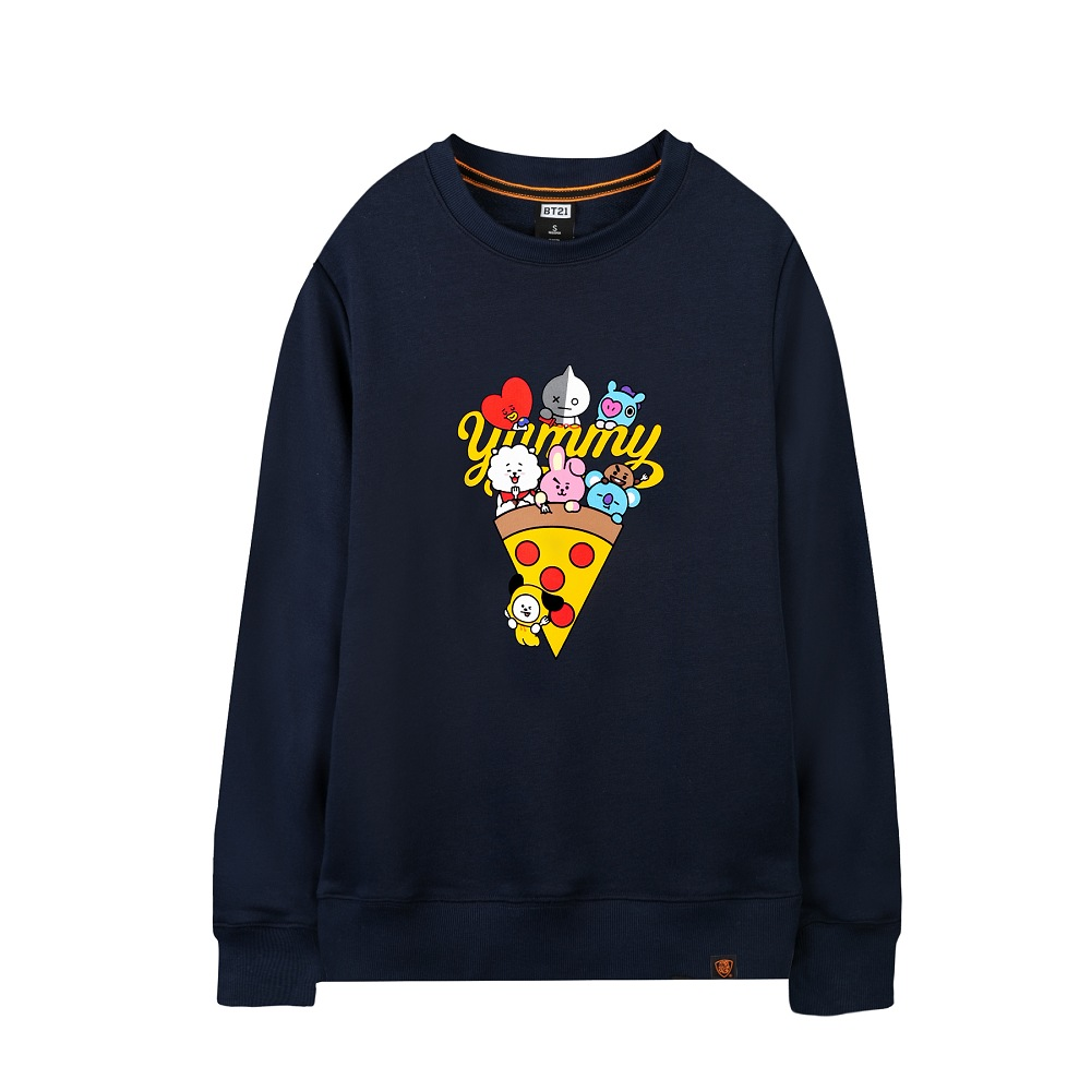 【4/6-4/27週慶享7折優惠】BT21 大學服 披薩派對款(黑/白/丈青)