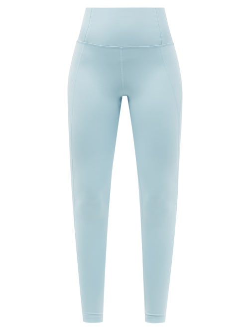Girlfriend Collective - High-rise Compression Leggings - Womens - Light Blue