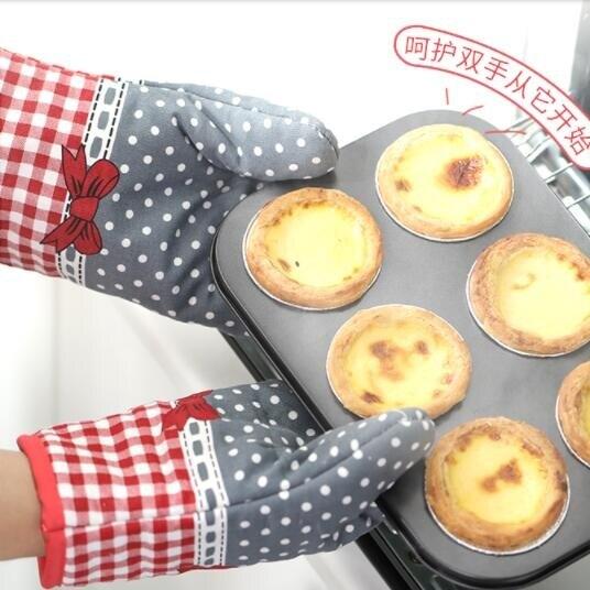 防燙手套加厚隔熱廚房烘焙烤箱專用手套微波爐家用【百淘百樂】