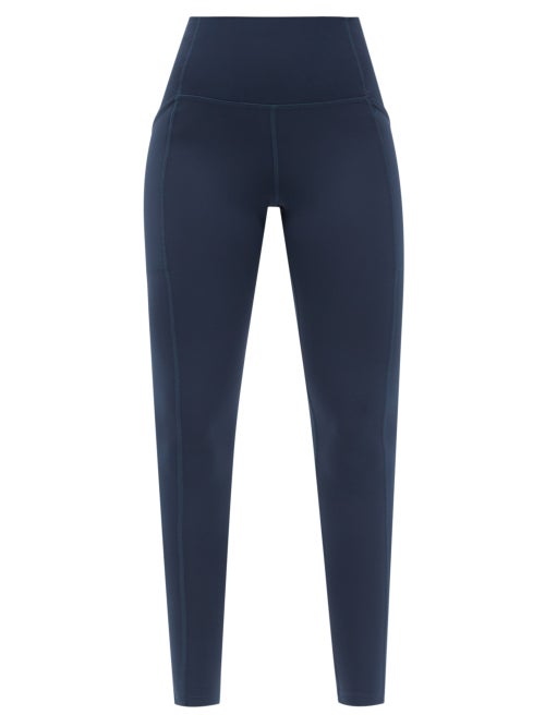 Girlfriend Collective - High-rise Pocketed Leggings - Womens - Navy