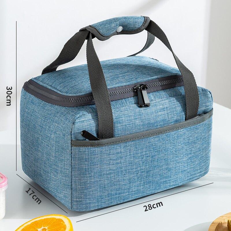 便當袋 保溫袋手提便當包上班族裝飯的飯盒袋子小學生帶飯包飯兜加厚鋁箔
