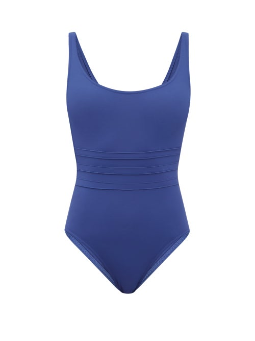 Eres - Asia Panelled-front Swimsuit - Womens - Blue