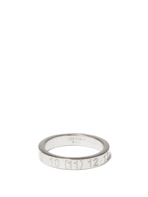Maison Margiela - Number-engraved Sterling Silver Ring - Mens - Silver