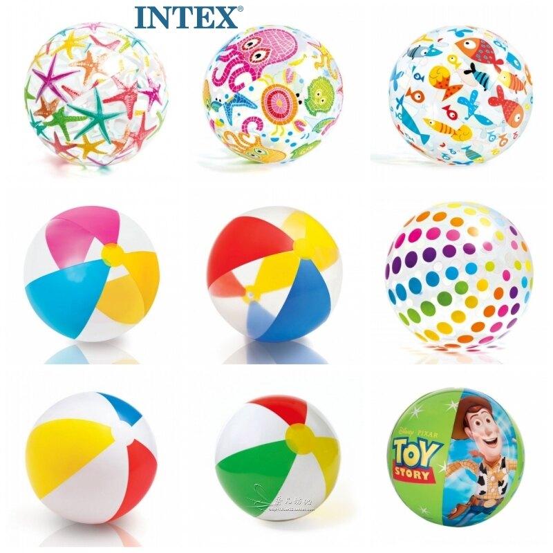 沙灘球 充氣球 玩具充氣球沙灘球兒童早教游泳水球塑料球水上小孩戲水彩色海洋球『cyd0016』