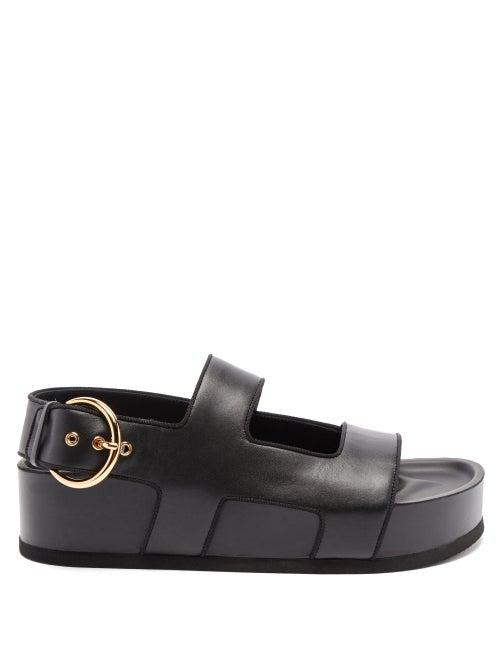Neous - Cher Leather Platform Sandals - Womens - Black