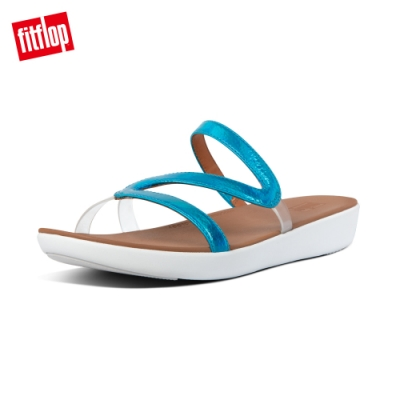 【FitFlop】PIPPA IRIDESCENT SCALE SLIDES造型涼鞋-女(海洋藍)