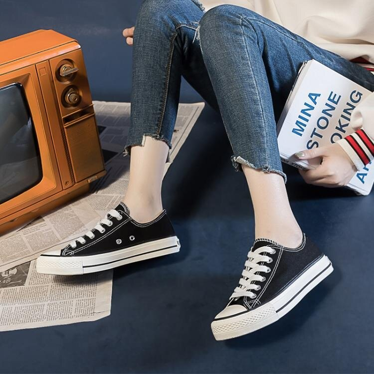 夏季新款百搭帆布鞋女鞋韓版休閒學生ulzzang布鞋小白板鞋子 雙12全館免運