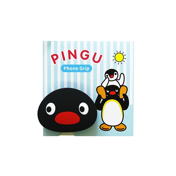 《企鵝家族Pingu》橡膠手機氣墊支架-大臉PINGU