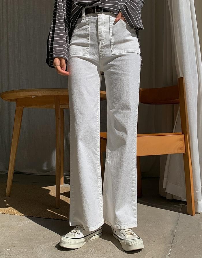 韓國空運 - Label Cotton Pants 長褲