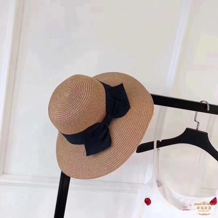 草帽 遮陽帽女韓版沙灘大檐太陽帽可折疊復古防曬草帽