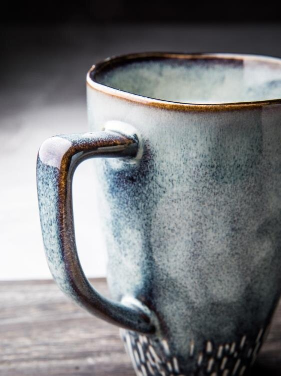 馬克杯 繁星陶瓷杯高杯子大容量簡約手繪咖啡杯馬克杯【快速出貨】免運【艾莎嚴選】