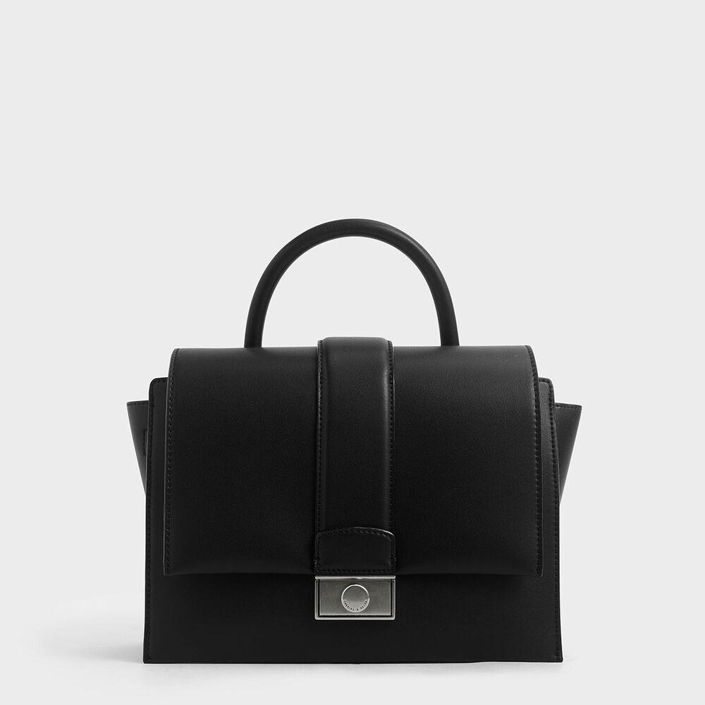 金屬方扣手提包