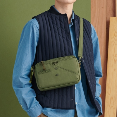 PORTER - 紳士品味CUFF(N)簡約百搭斜背包 - 綠