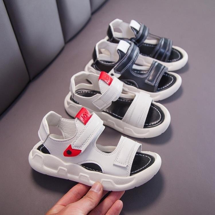 兒童涼鞋 兒童涼鞋2021夏季新款中大童女童涼鞋男童涼鞋運動軟底寶寶涼鞋潮    時尚學院