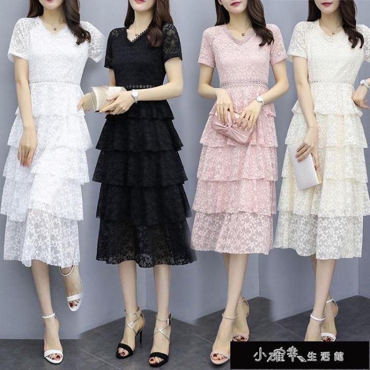 2020夏季新款女裝流行氣質仙女裙子超仙過膝蛋糕長【百淘百樂】