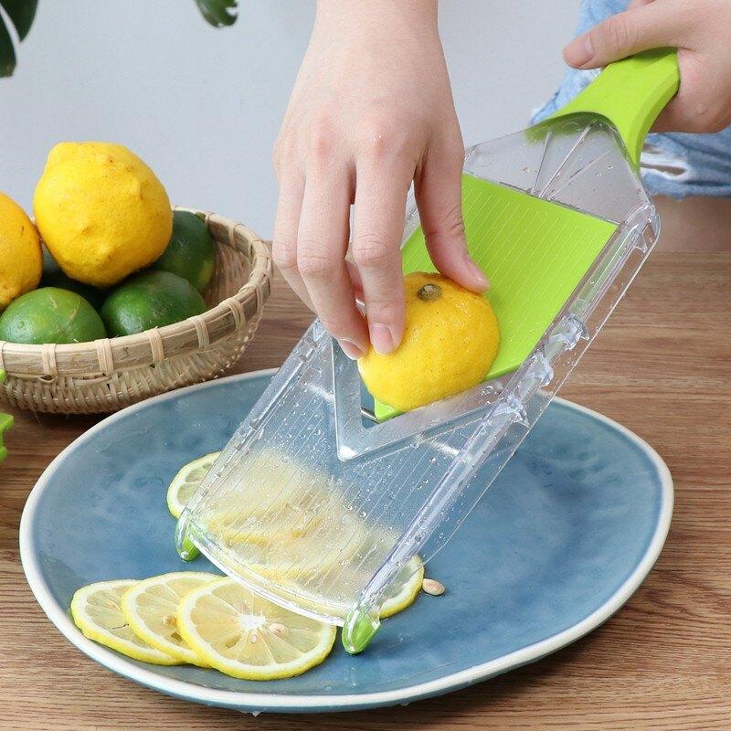 〔免運〕切檸檬切片器青瓜面膜鮮果茶切片機水果西柚橙子薄多功能切片器
