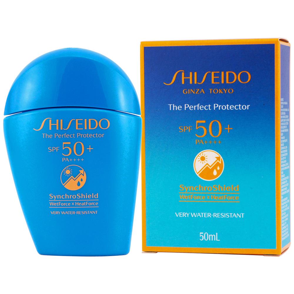 《SHISEIDO 資生堂》新艷陽夏水離子熱防禦UV隔離露SPF50+ PA++++50ml