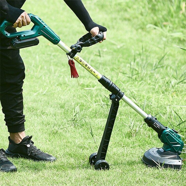 藤原鋰電割草機打草機電動草坪機除草機多功能家用庭院工具剪草機