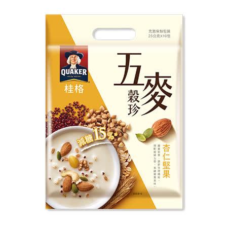 桂格五麥穀珍杏仁堅果25Gx10