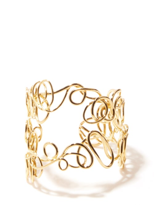 Completedworks - Twisted Gold-plated Recycled Sterling-silver Cuff - Womens - Gold