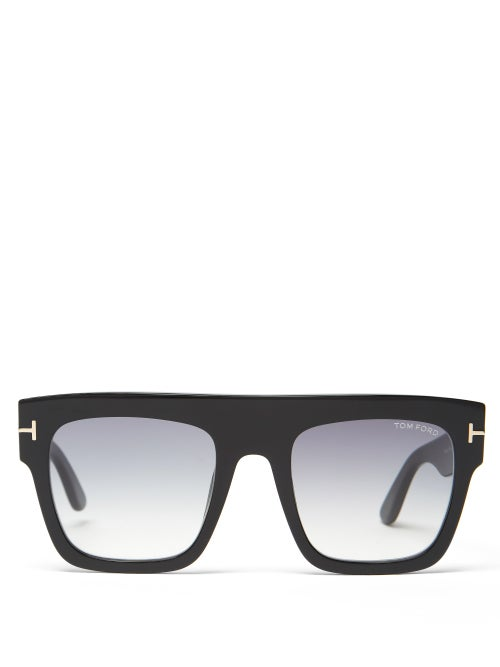 Tom Ford Eyewear - Renee Oversized Square Acetate Sunglasses - Womens - Black