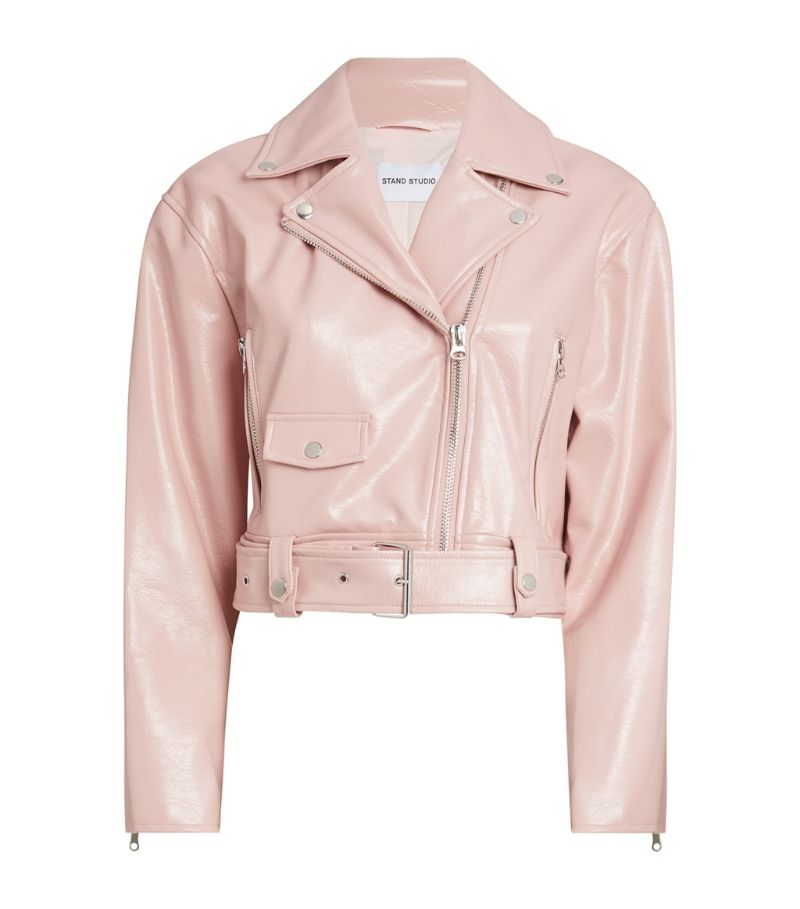 Stand Studio Selena Cropped Biker Jacket