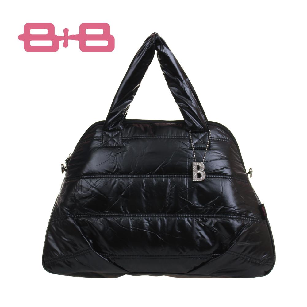 HAPPY B+B 時尚B媽媽空氣包/尿布墊保溫袋-黑 E-B-95158A-B