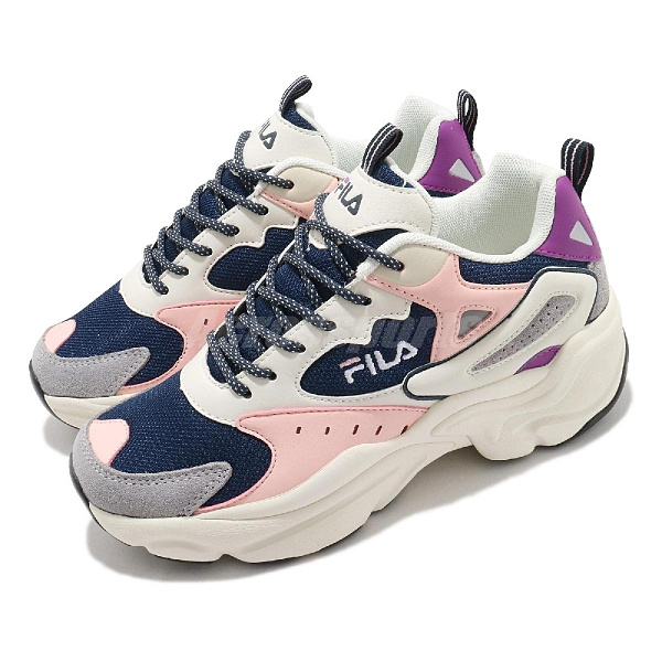 FILA 休閒鞋 J308V 白 藍 女鞋 厚底 增高 老爹鞋 復古慢跑鞋 韓國 韓系【ACS】 5J308V102