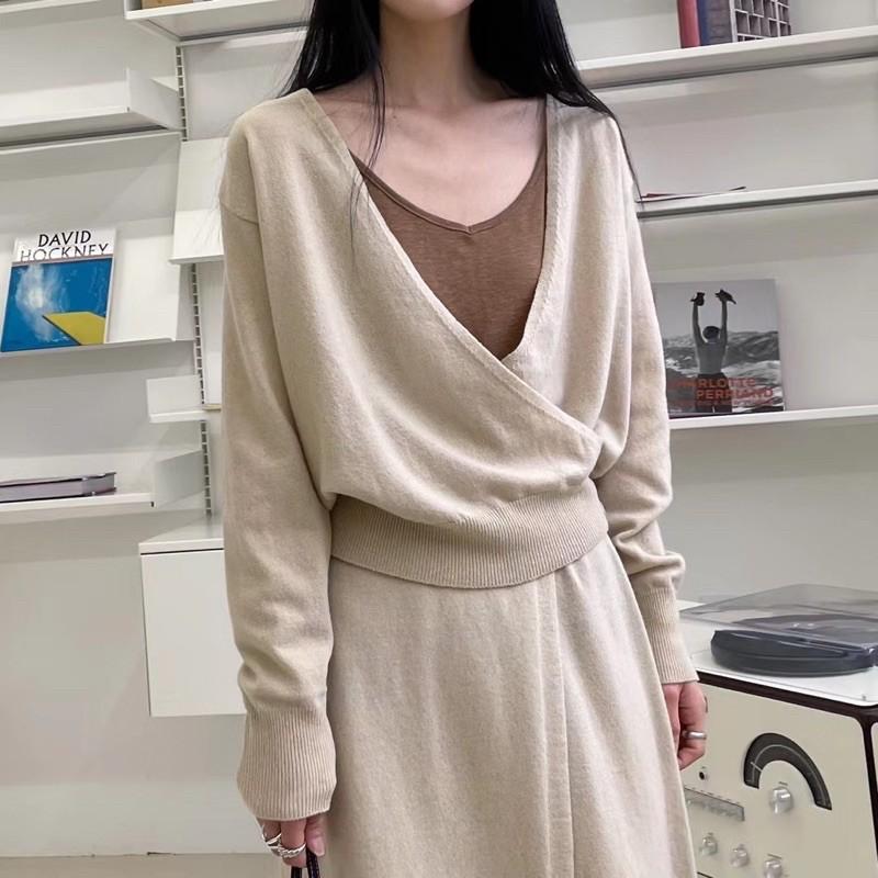*Reymoon in SP* 韓國最新流行單品精選代購 V領側扣針織小外套 小個女孩劉寅娜穿搭PC21031901