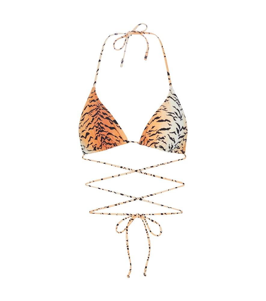 Miami tiger-print bikini top