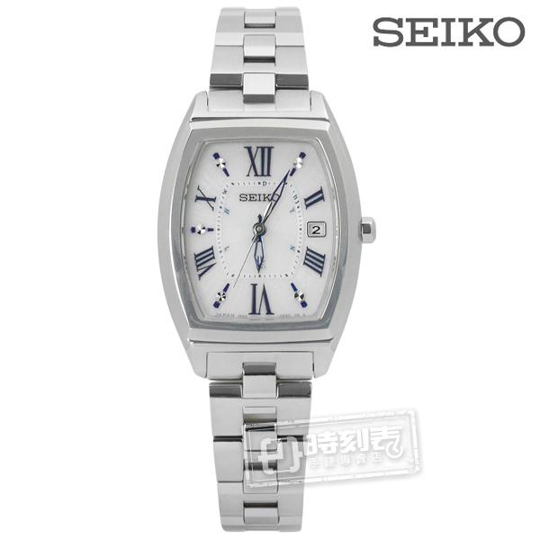 SEIKO 精工 / 1B22-0CC0S.SSQW031J / LUKIA 太陽能電波錶 藍寶石水晶 日期 鈦金屬手錶 銀色 25mm