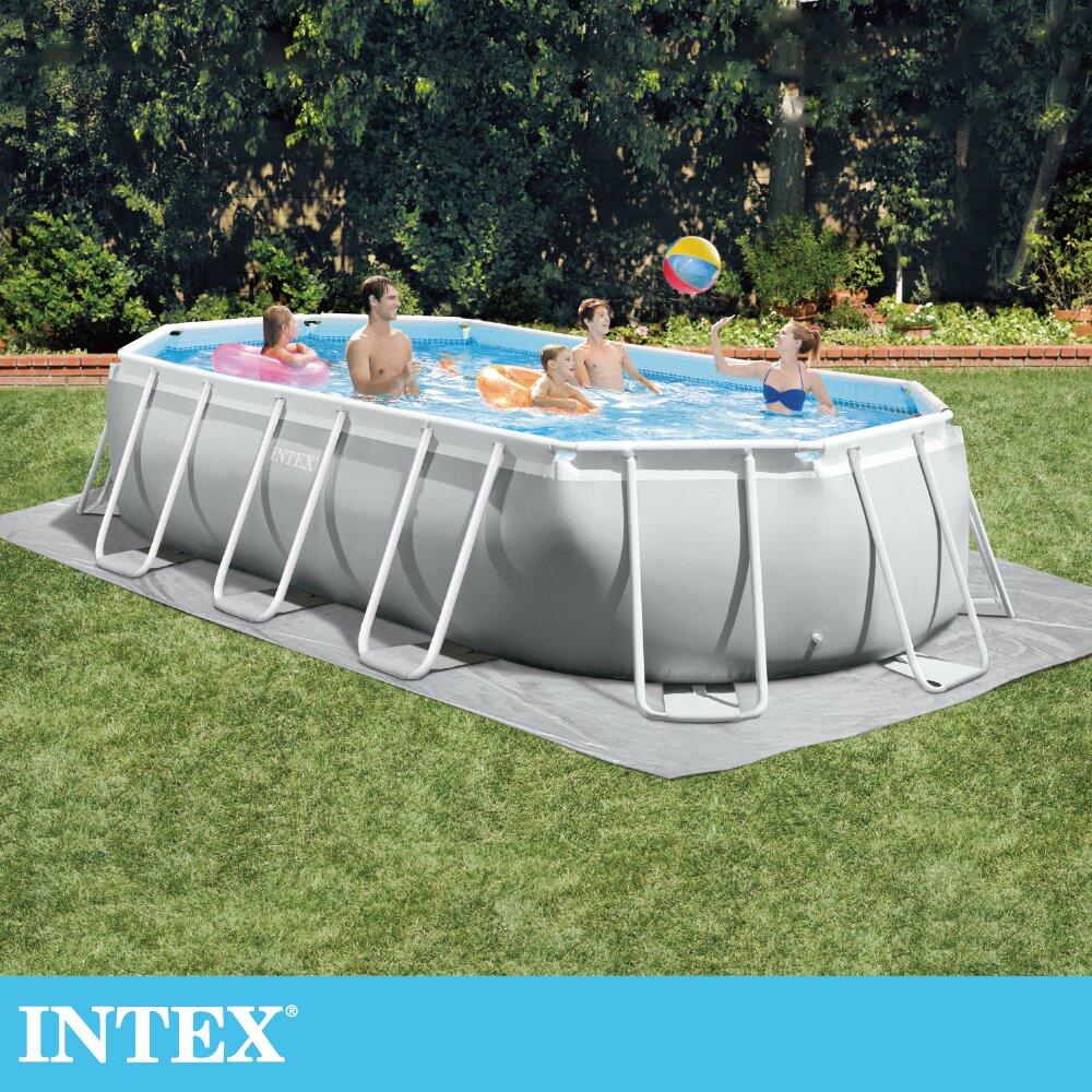 【INTEX】長型框架速搭大型游泳池(附濾水泵)-503x274x122cm(26795EH)