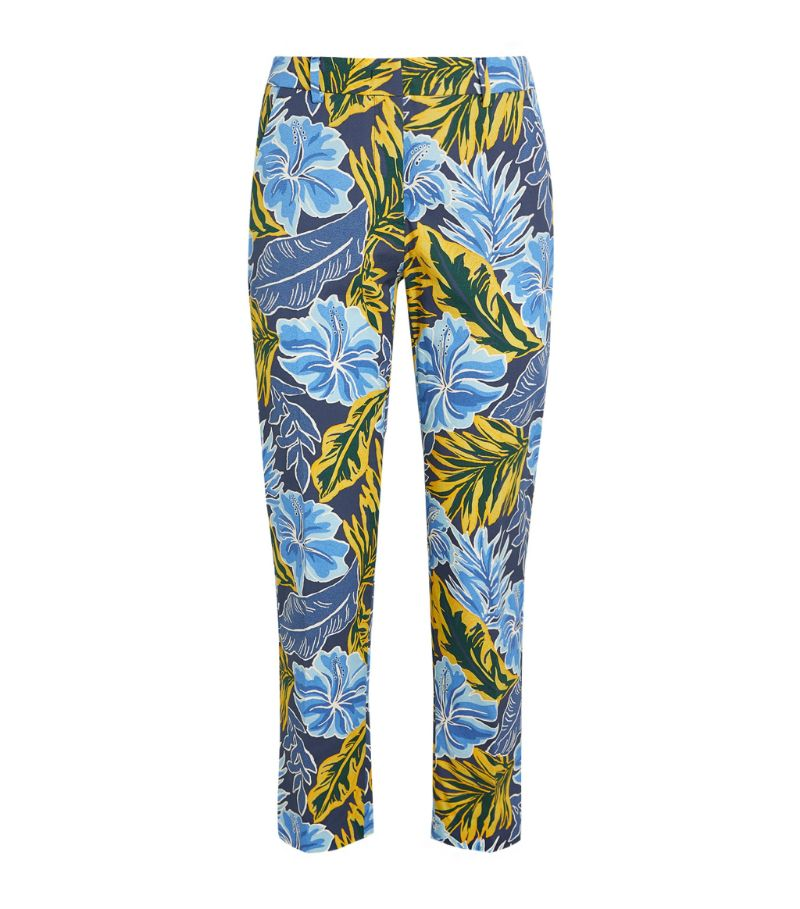 Weekend Max Mara Floral Print Cropped Trousers