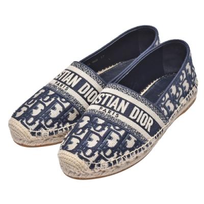 Dior 經典緹花布帆布鞋(藍色)