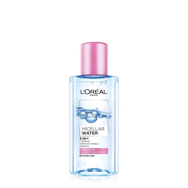 LOREAL PARIS巴黎萊雅三合一卸妝潔顏水_保濕型95ml 【康是美】