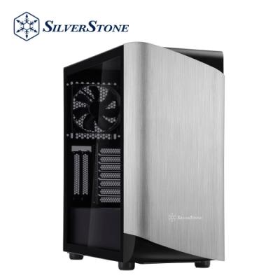 SilverStone銀欣 SETA A1 SEA1SB-G  鋁面板鋼製機身ATX中塔式機殼(銀面板/黑機身/鋼化玻璃側板)