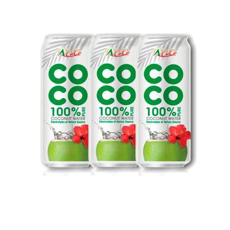 椰活100%純椰子水500mlx3