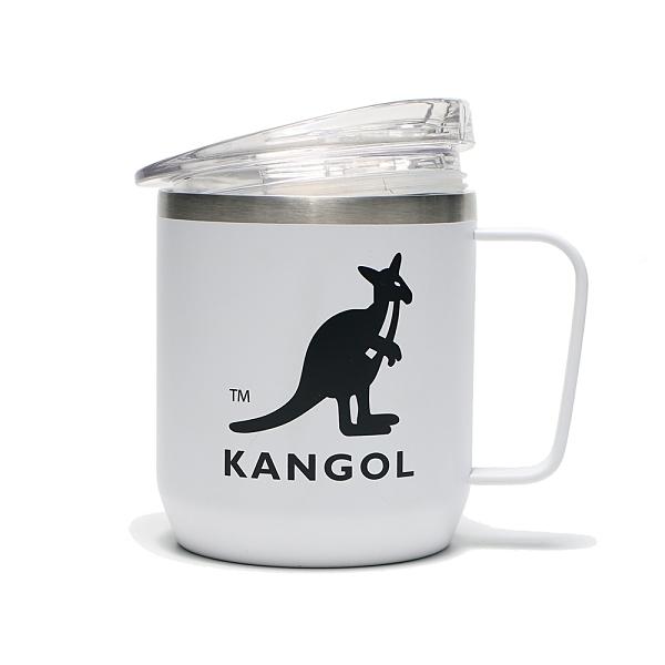 KANGOL 馬克杯 白 黑LOGO 不鏽鋼 可調式杯蓋 保溫 環保 (布魯克林) 6055361700