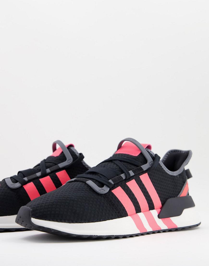 adidas Originals U-Path Run trainers in black and neon