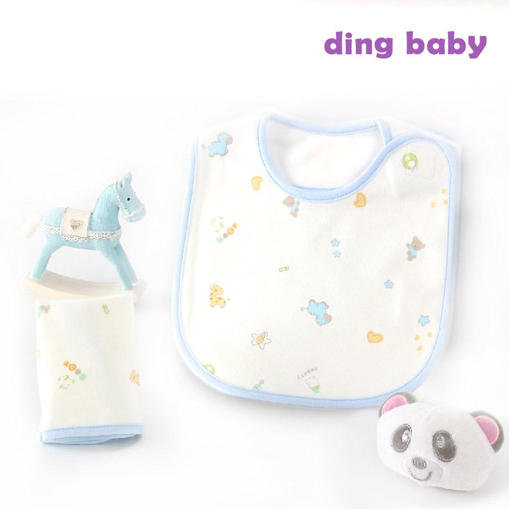 【結帳再9折】ding baby 寵愛寶貝側開中圍兜-藍 C-922451-B0-FF