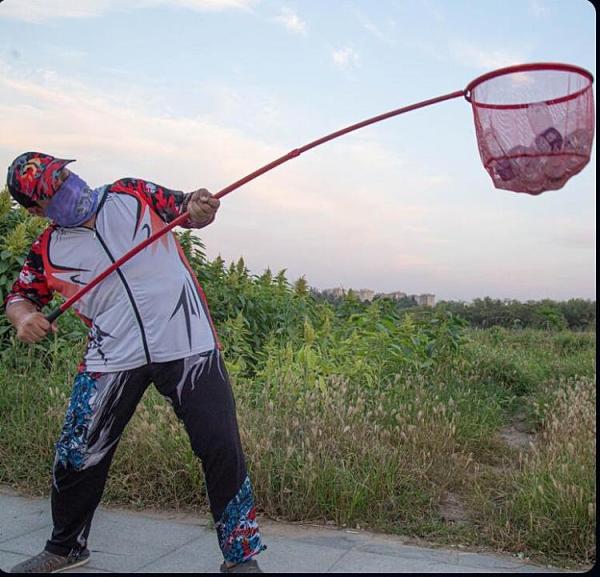 抄魚網 碳素超輕超硬抄網竿抄網桿套裝網兜抄魚掛魚競技套裝折疊網頭