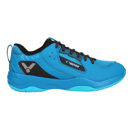 (男女) VICTOR 羽球鞋-訓練 運動 寬楦 3E 勝利 寶藍黑