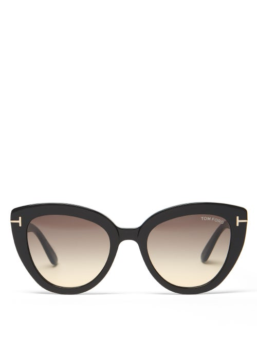 Tom Ford Eyewear - Izzi Cat-eye Acetate Sunglasses - Womens - Black